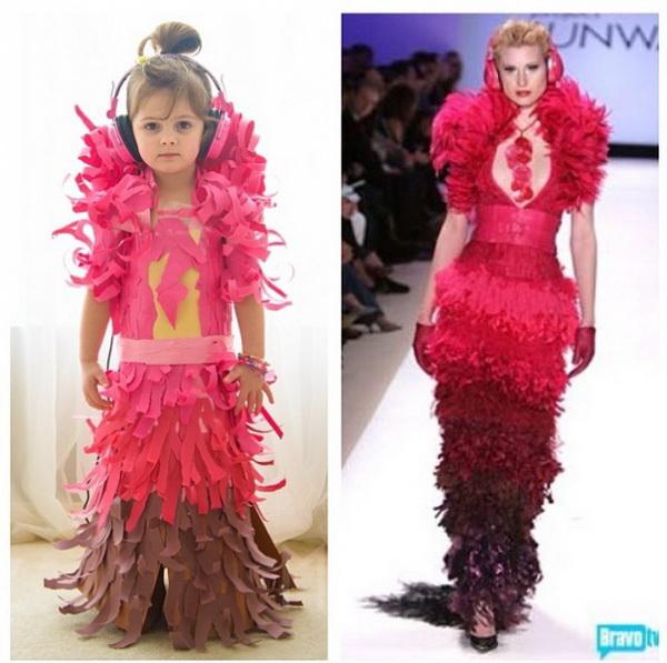 Креативные наряды девочки