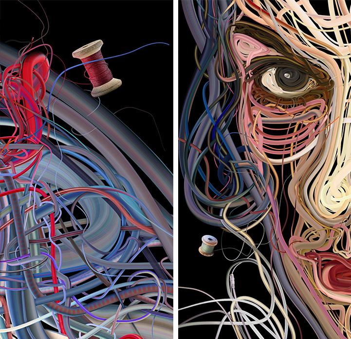 Искусство из проводов Charis Tsevis