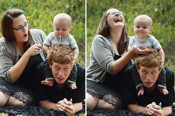 Фотосессии новорожденных, на которых что-то пошло не так