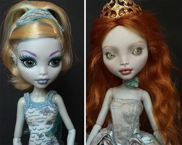 Перекрашенные куклы Olga Kamenetskaya