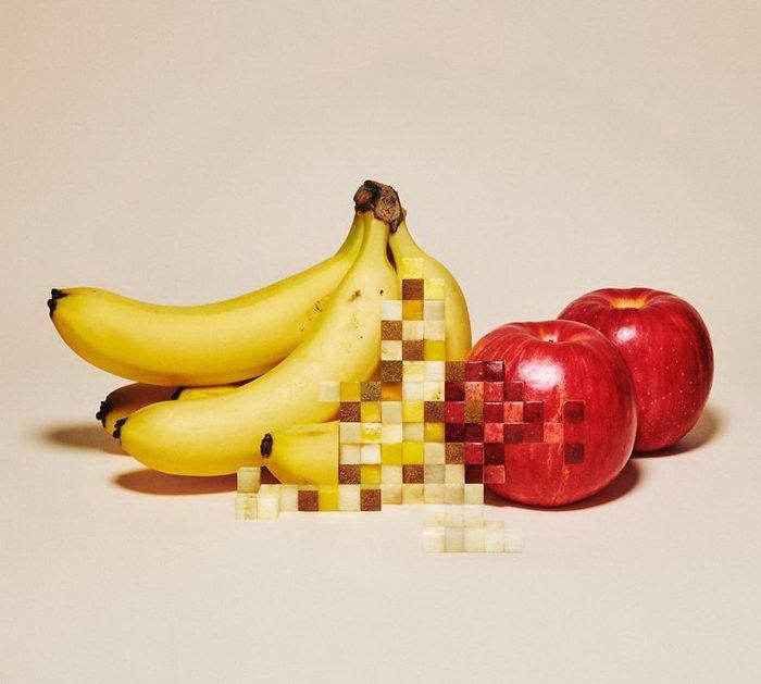 Пиксельные фрукты Yuni Yoshida