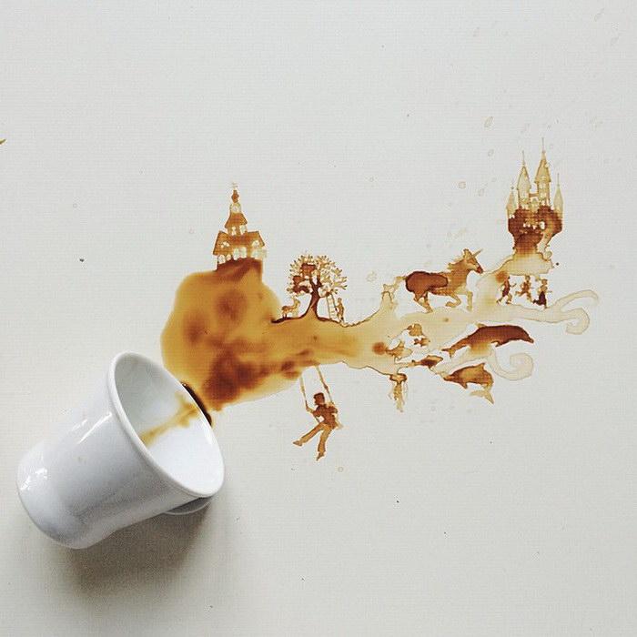 Кофейные рисунки Giulia Bernardelli