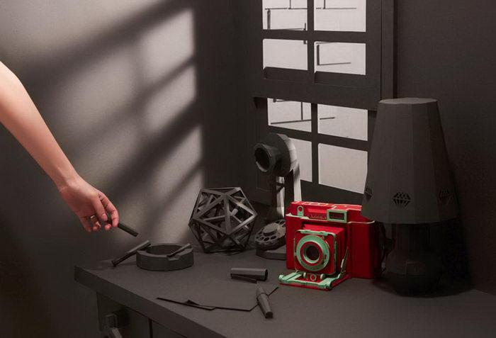 Бумажные винтажные фотоаппараты Lee Ji-hee