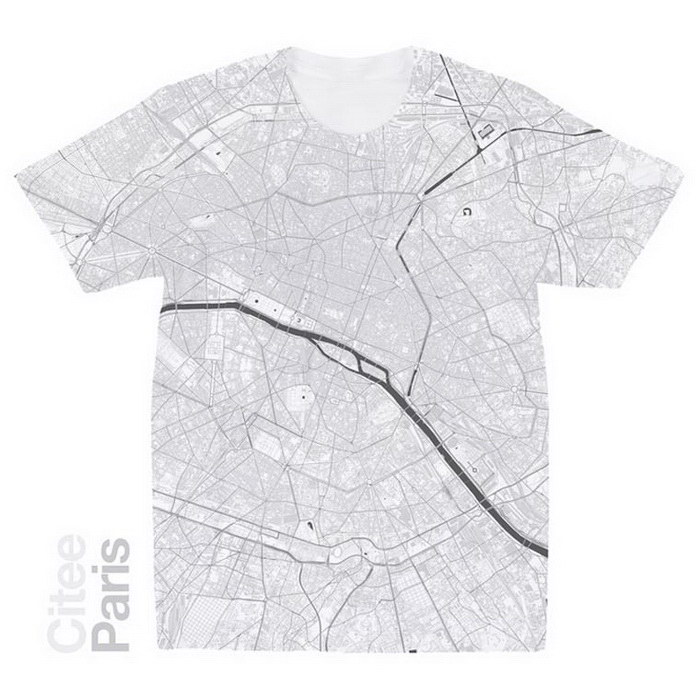 Футболки с картами городов мира