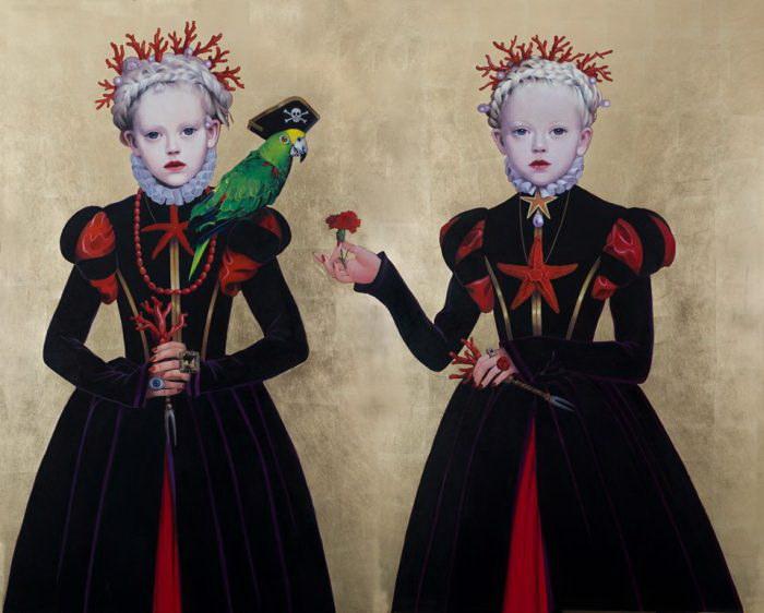 Девочки, нарисованные Titti Garelli