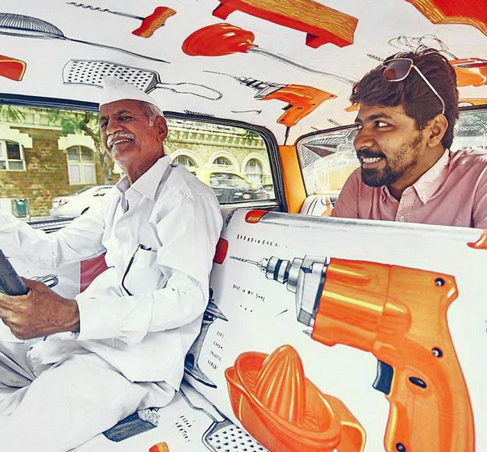 Яркие такси в Мумбаи