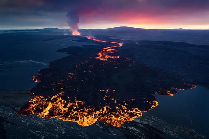 извержение вулкана в исландии фото