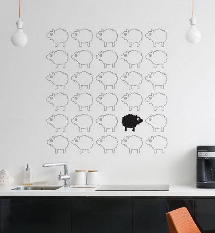 20 наклеек для стен, с помощью которых ваш интерьер оживет