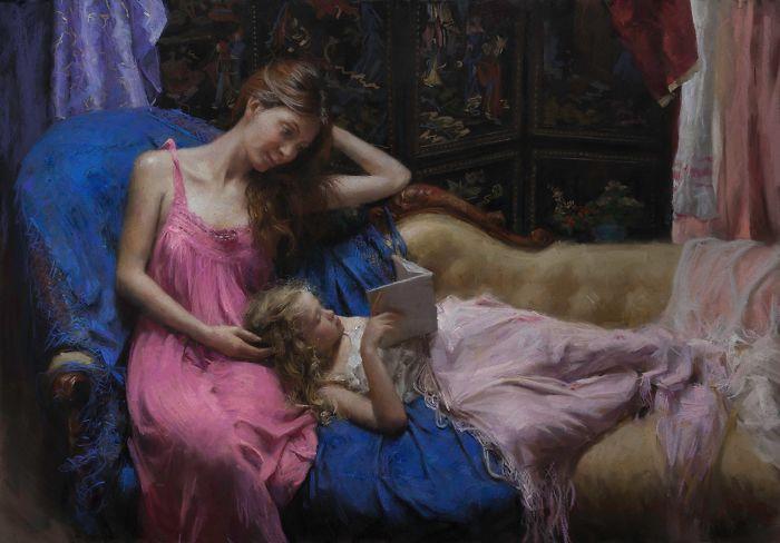 Красота и сила женщин в картинах Vicente Romero Redondo