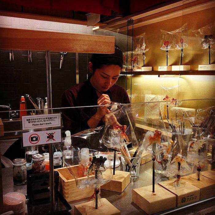 Магазин удивительных леденцов Ameshin в Токио