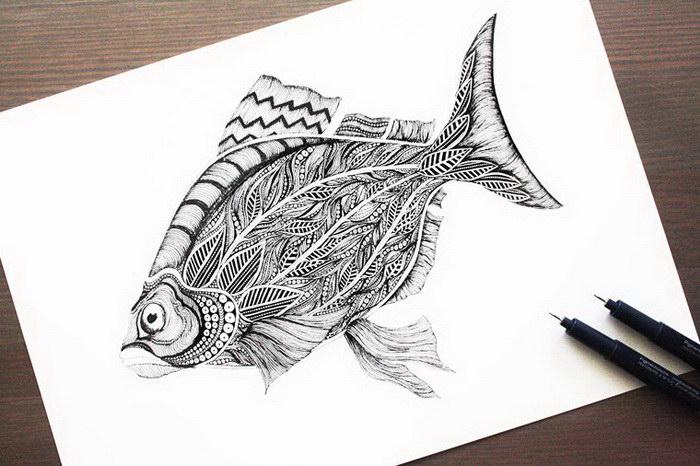 Черно-белые иллюстрации Meni Chatzipanagiotou