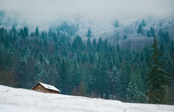 Красивые зимние домики для новогоднего отдыха