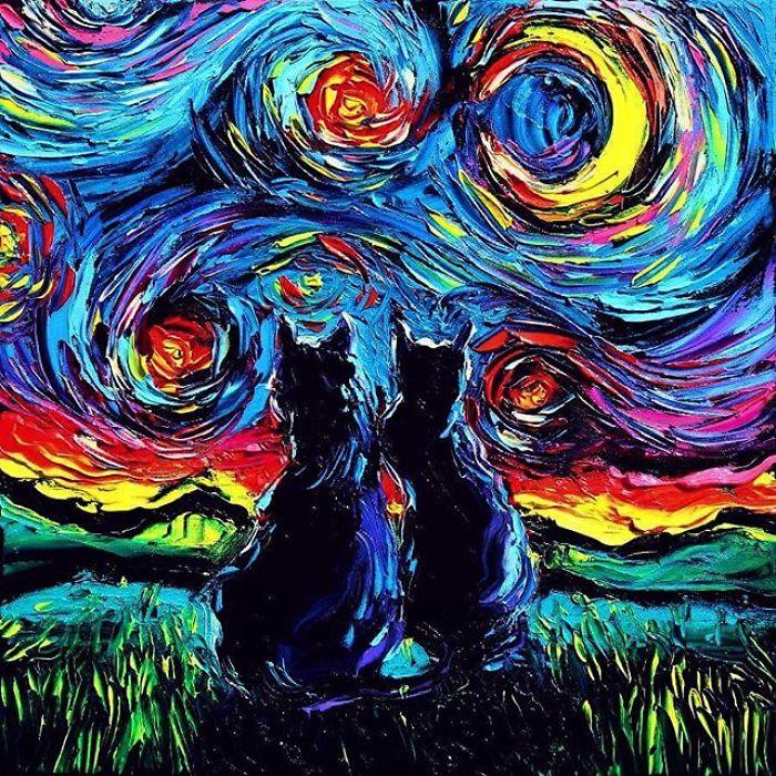 Картины Aja Trier в стиле Ван Гога