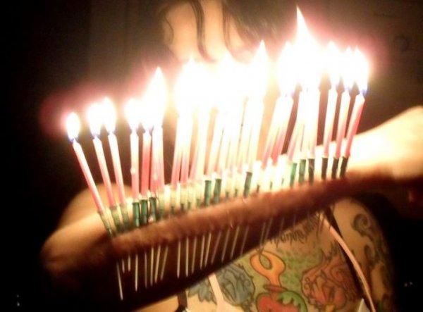 Необычные свечи на день рождения