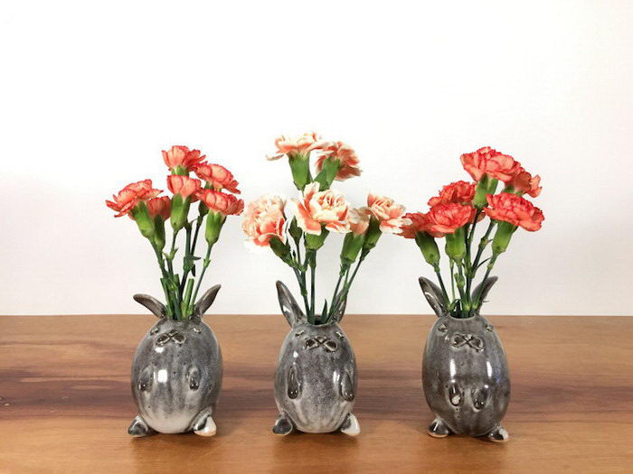 Необычные вазы-животные Yoshiko Kozawa