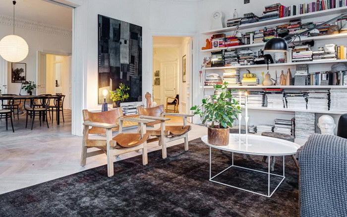 Светлая квартира в Стокгольме