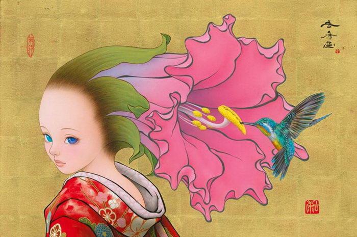 Манга и классика: картины Tamura Yoshiyasu