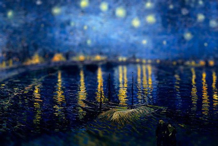 Тилт-шифт на картинах Ван Гога