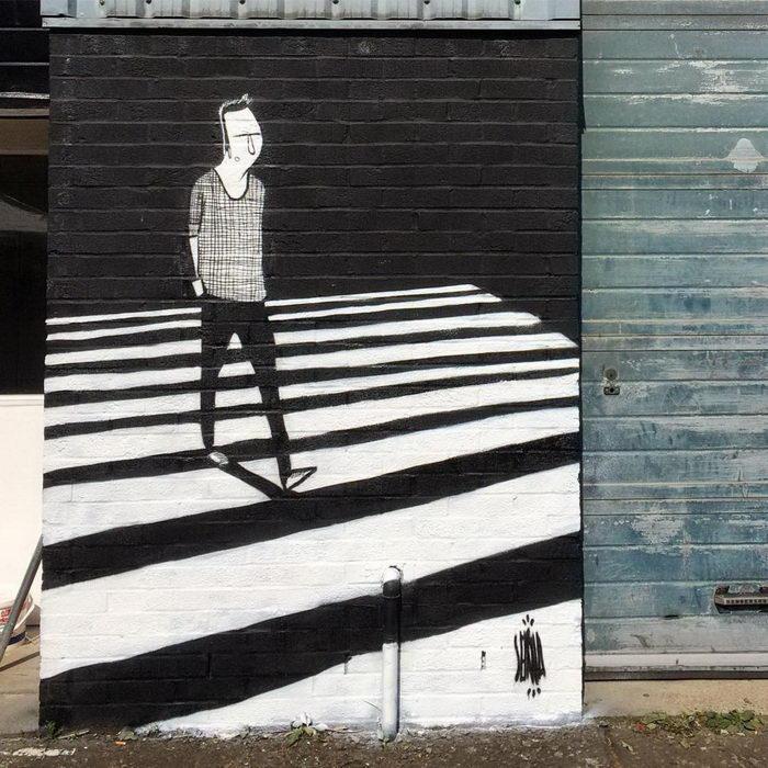 Забавные граффити Alex Senna