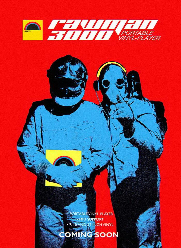 Портативный виниловый проигрыватель Rawman 3000