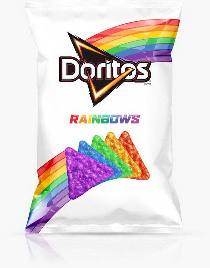 Радужные чипсы Doritos