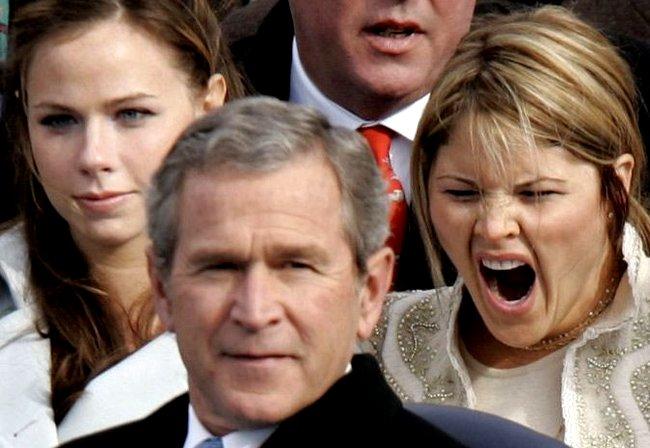 Дочки Буша и Путина