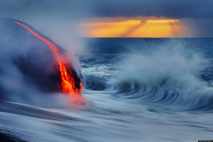 Вода и огонь: извержение вулкана Килауэа