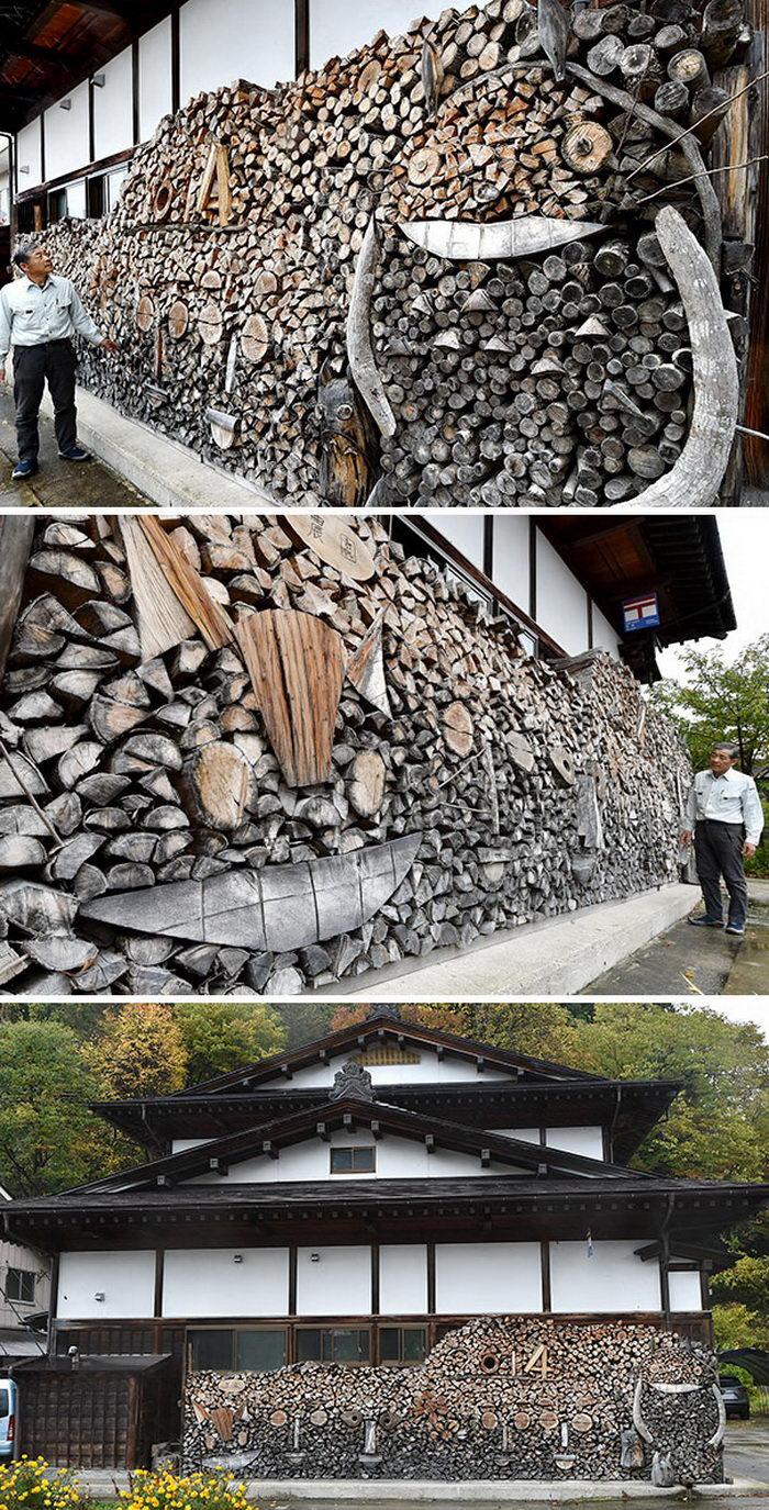 10 скульптур из срезанных деревьев и дров
