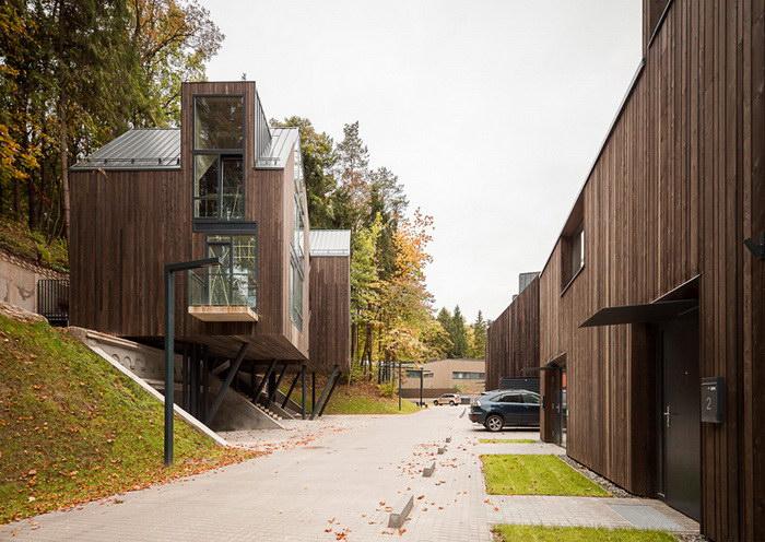 Комплекс экологических домов в пригороде Вильнюса