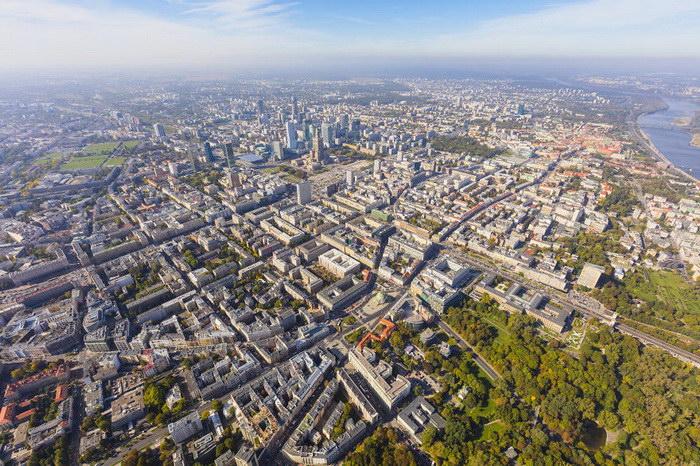 На вертолете над Варшавой: фотографии Maciej Margas