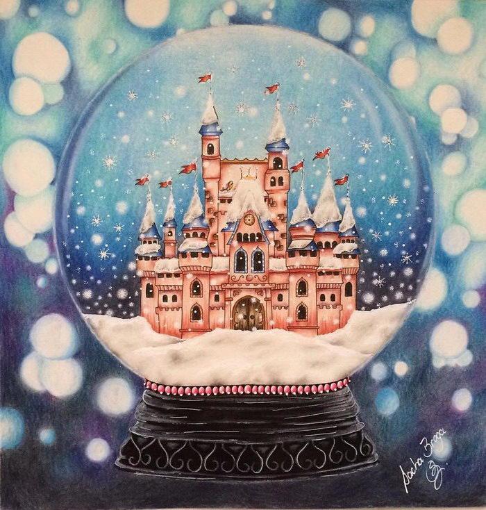 Рождественская раскраска Johanna Basford