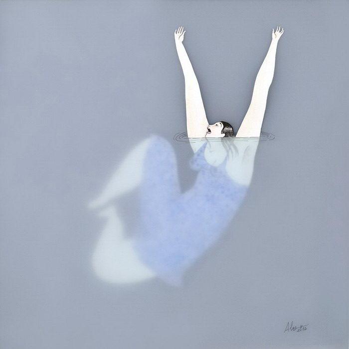 Купальщицы в рисунках Sonia Alins