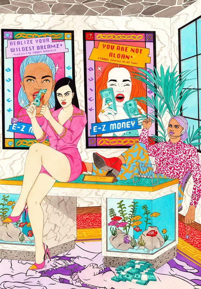 Цветные иллюстрации Laura Callaghan