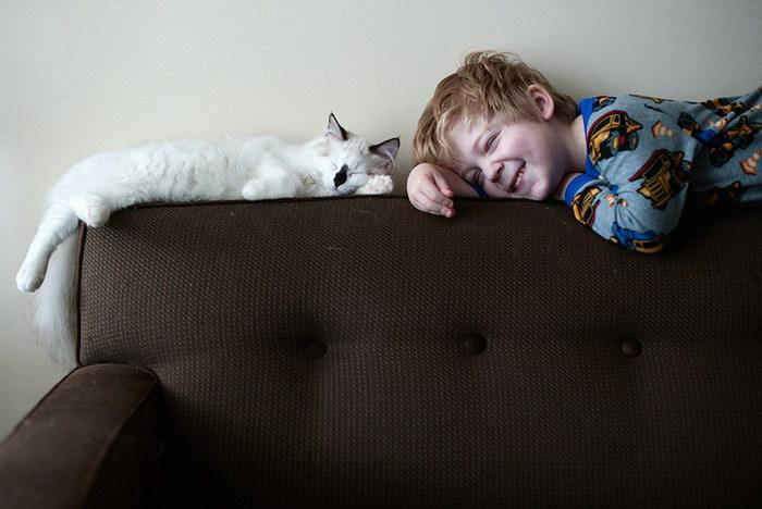 Мальчики и кошки: проект фотографа Beth Mancuso