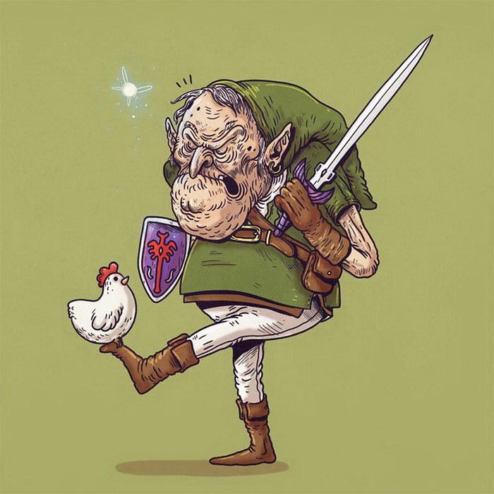 Постаревшие супергерои в иллюстрациях Alex Solis