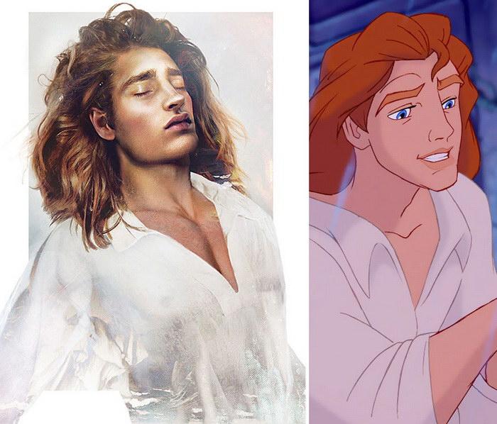 Реальные диснеевские принцы в иллюстрациях Jirka V??t?inen