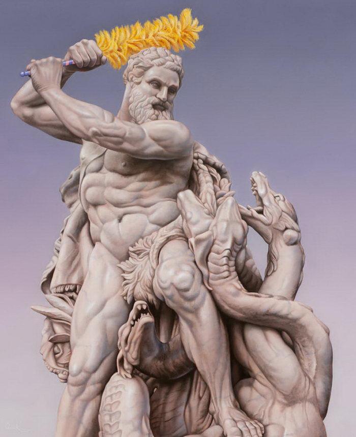 Классическая скульптура в современном облике: проект Matthew Quick