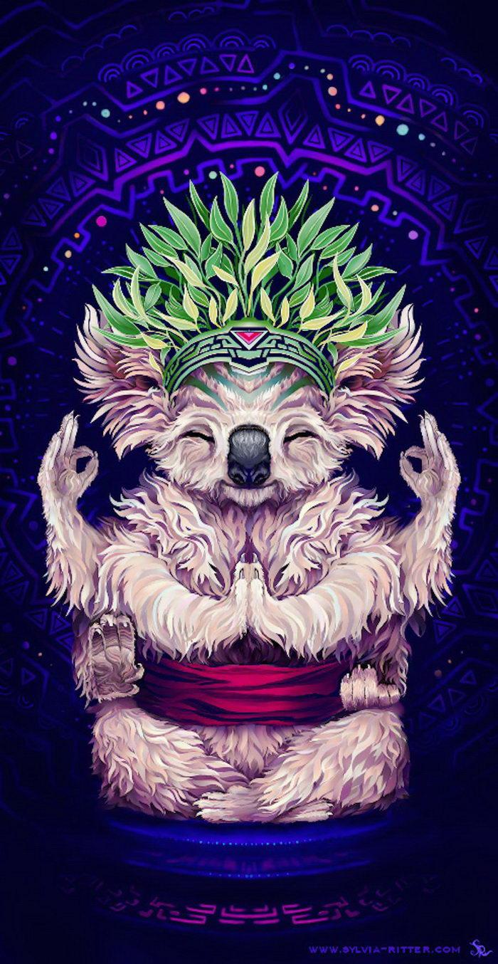 Яркие психоделические животные в картинах Sylvia Ritter