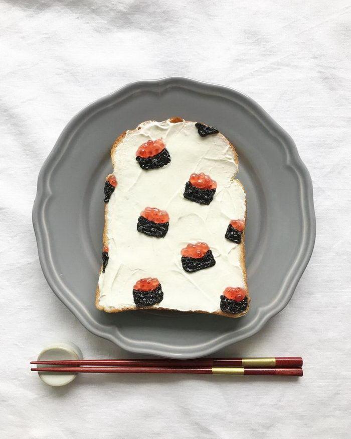 Креативные тосты кулинара Eiko Mori