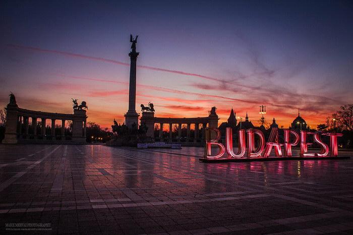 Красота Будапешта на закате