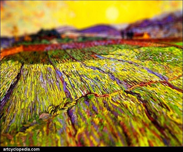 Картины Ван Гога с эффектом тилт-шифт