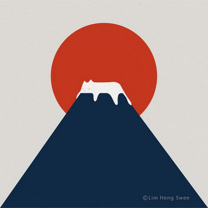 Минималистичные иллюстрации Lim Heng Swee