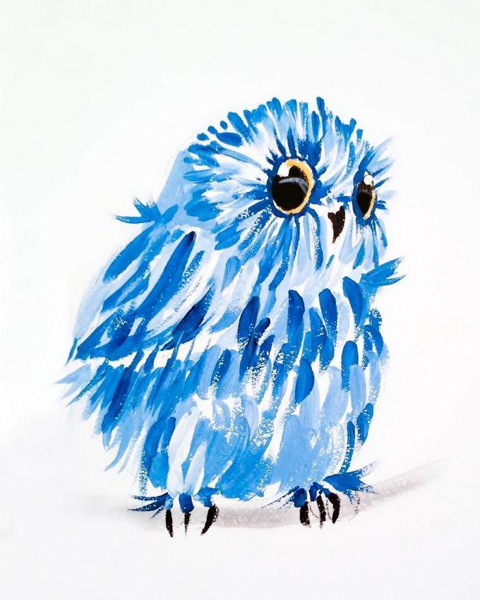 Акварельные совы Magdalena Zolnierowicz