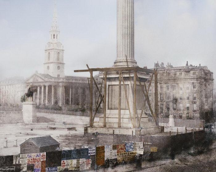 Цветные фотографии строительства известнейших сооружений XIX-XX веков