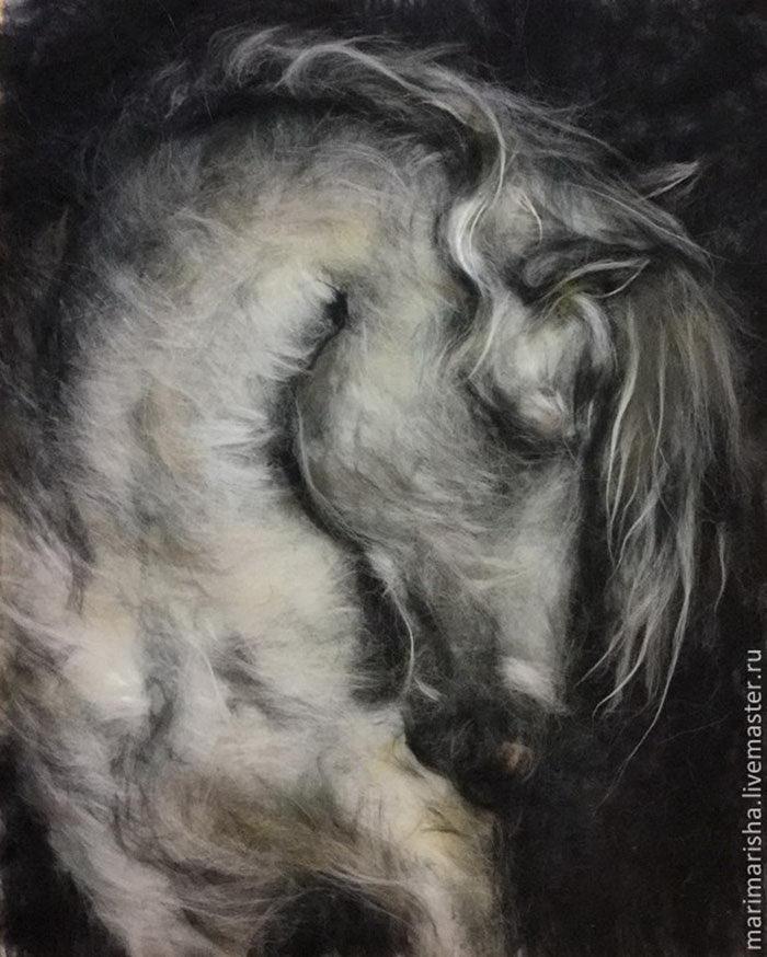 Шерстяные картины Marina Askerova