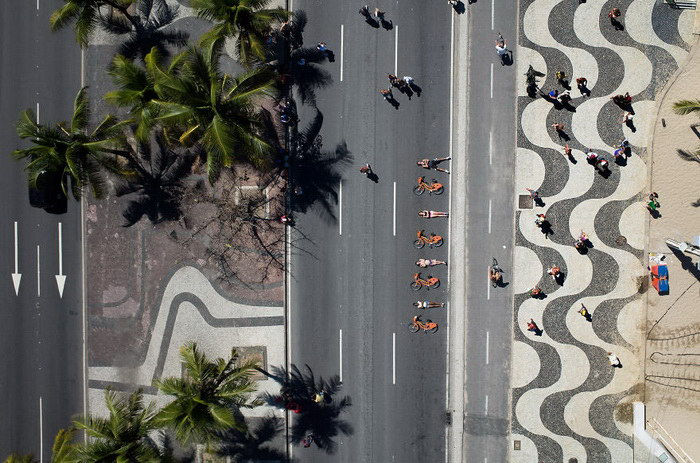 Бразильские спортсмены: вид сверху
