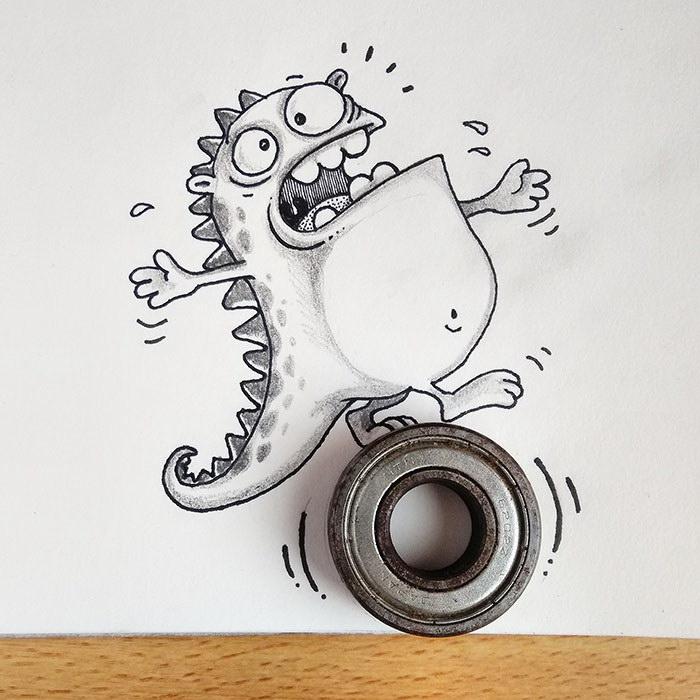 Смешной дракончик авторства художников Manik & Ratan
