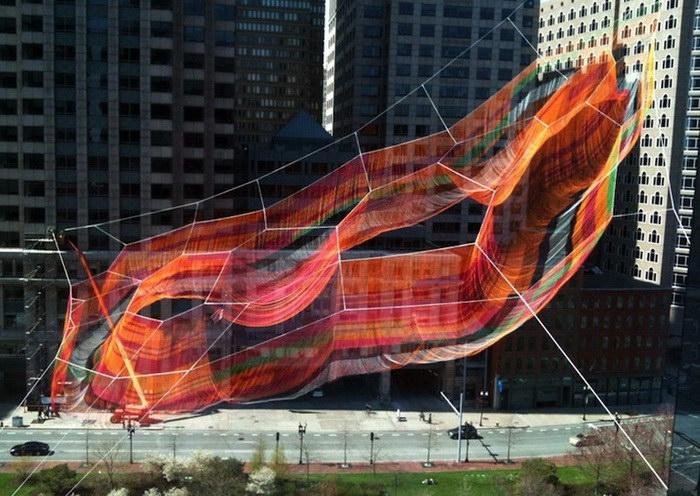 Инсталляция Janet Echelman