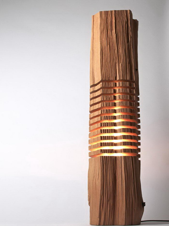 Стильные деревянные лампы Paul Foeckler