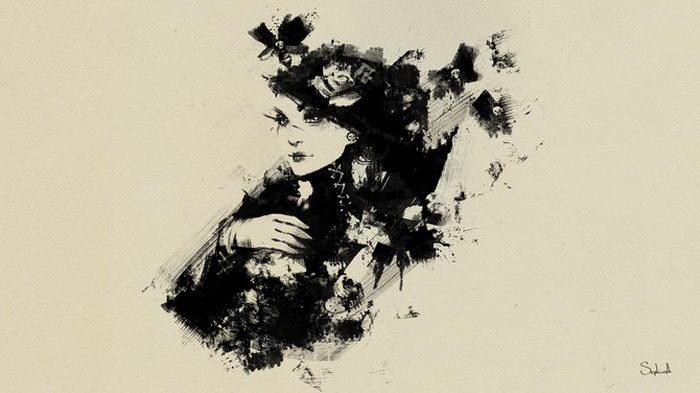 Картины тушью Grishin Alexey